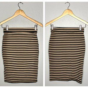 SALE Old Navy Tan Stripe Bodycon Knit Pencil Skirt